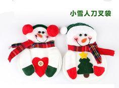 120pcs/lot Christmas Decoration Supplies for Home Christmas Snowman Srtyle Christmas Candy Fork Knife Bag Christmas Ornaments $100