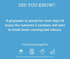 About Greywater and how to Safely Reuse It - Basic Azure