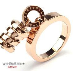 bvlgari bzero1 ring in 18kt pink gold