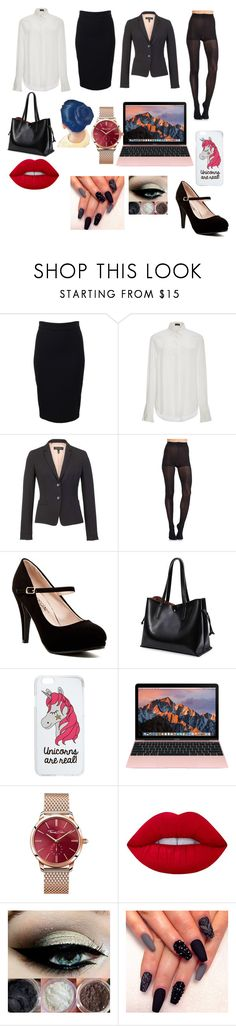 """""""office job"""" by avahoney ❤ liked on Polyvore featuring Givenchy, Joseph, ESCADA, Pretty Polly, Miss Selfridge, Thomas Sabo and Lime Crime"""