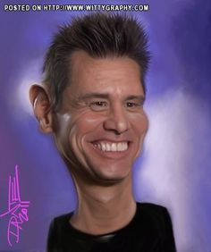 Jim Carrey Caricature by Caricatures-by-Dante on DeviantArt Caricature From Photo, Caricature Artist, Funny Caricatures, Celebrity Caricatures, Funny Celebrity Pics, Funny Photos, Jim Carrey, Optical Illusions Faces, Cartoon Pics
