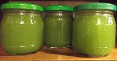 """""""Gdy zobaczyłam przepis na dżem z cukinii na blogu Zjem to , wiedziałam, że będzie to dobry sposób na zagospodarowanie nadwyżek tego warz... Kitchen Witch, Preserves, Pesto, Pickles, Cucumber, Mason Jars, Recipies, Food And Drink, Canning"""