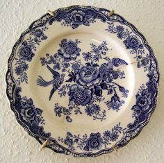 Old Blue and White Plate by nbklx17 (Sandy) on Flickr.
