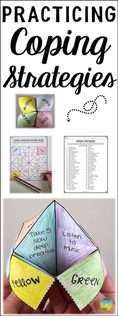 Teach kids and teens how to utilize coping strategies with a fun and hands-on fortune teller craft! Kids will read a list of coping strategies, write their strategies in, and fold their fortune teller. Use this tool to teach the skills kids need to manage their emotions. #copingstrategies #copingskills #pathway2success