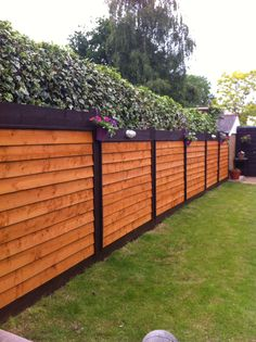 Two coloured fence Daddy's proud work! #gardenfences