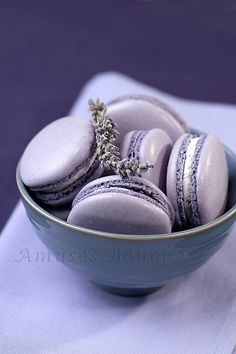 ♂ Food styling photography sweet purple Macarons lavande (by sylvieaa)