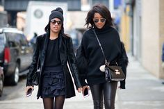 Danielle Prescod and Gabby Prescod were some of the best dressed street stylers at New York Fashion Week, Day 1.
