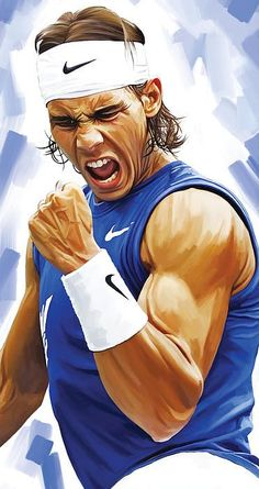 Rafael Nadal artwork by Sheraz A.                                                                                                                                                                                 Mehr