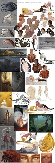 Character Sketchdump 9 by beastofoblivion on deviantART