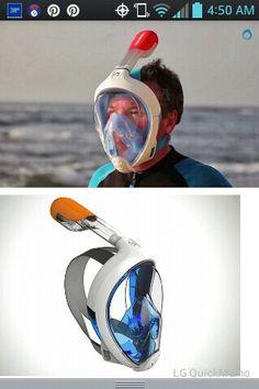 Easy breathe snorkeling mask