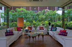 Verglasung Moderne Architektur-Innendesign exotisch