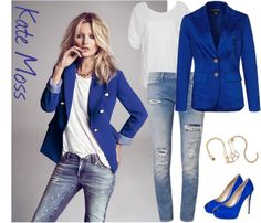 A fashion look from October 2012 featuring tee-shirt, ripped skinny jeans and Baukjen. Browse and shop related looks. Kate Moss, Star Wars, Star Fashion, Blazer, Stars, My Style, Coat, Polyvore, Jackets