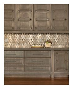 Interesting cabinet finish and tile work  Interiors - October/November 2012