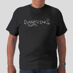 BOX'NGO - $18.99 Evanescence American rock band white black t-shirt