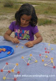 Geometria amb escudadents i gominoles