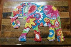 Elephant string art by Shazz Art. Find me on facebook or on instagram @shazzart. Visit my etsy shop to purchase https://www.etsy.com/au/shop/ShazzArtz?ref=pr_shop_more