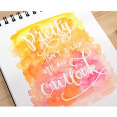 """""""New video is up at my blog and YouTube channel! Masked Lettering with Watercolor Background. ~~~~~~~~~~~~~~~ Quote by: @createmyquote Watercolors:…"""""""