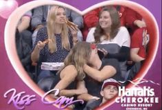 This angelic beauty is literally me at any family event when they ask about my relationship status. | This Woman Stuffing Her Face With Pizza On Kiss Cam Is Literally Me