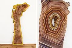 Jason Middlebrook's abstract paintings on wood planks