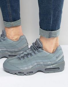 Shop Nike Air Max 95 Essential Trainers In Grey at ASOS.