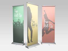Free Roll Up Banner Mockup  #mockupcatalog #free #graphicdesign #graphicdesignresources #graphics #webdesign #design  #mockup