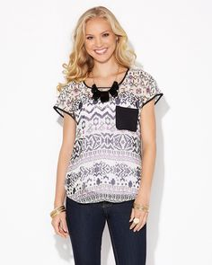 charming charlie | Southwest Horizon Top | UPC: 410006540101 #charmingcharlie