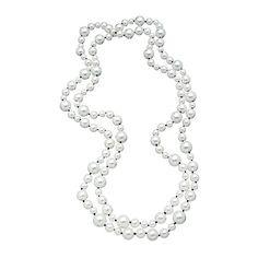 Multi Size White Pearl Necklace