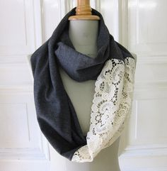 Scarf with lace
