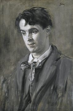 Augustus John (1878-1961), Portrait of W.B. Yeats, oil on canvas, 76 x 51cm