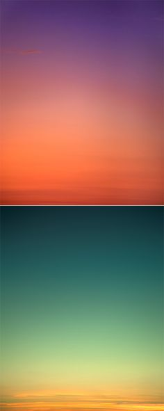 Eric Cahan Sky Series. I thought these were just gradients, they're actually unedited images of the sky.