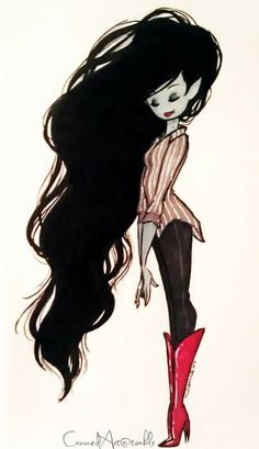 adventure time marceline, I think shes pretty without make up DAMN I LOVE HER