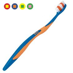 Tween Toothbrush: (39¢ each, Min. Quantity 72). Opaque #toothbrush handle with colored bristles. Colored non-slip grips. For ages 8+. May be personalized. #610031.  http://www.prophyperfect.com/customize/