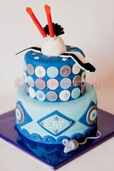 Babyshower Cake by www.sillybakery.nl