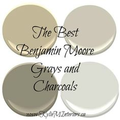 The Best Benjamin Moore Paint Colours - Grays (Including Grays with Undertones).  Revere Pewter, Chelsea Gray and more...