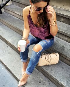 You guys... this velvet camisole is liiifffffeeee!  The moment I saw…