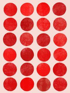 Colorplay_Red - Art Print by Garima Dhawan/Society6