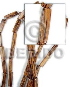 Palm Wood 4 Sided Tube  8mmx24mm -  Starter Collection 6 Strands  20x5mm DICE & SIDED