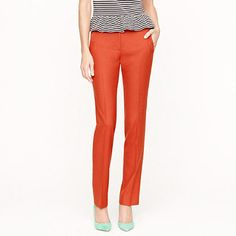 I love this color orange and this style is the favorite fit, which is my favorite fit. Stovepipe trouser in wool flannel