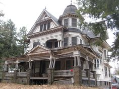 """Fleischmanns, NY - Heart breaking! 75 Depot Street, this fabulous mansion is a great example of George F. Barber's design no. 37 from """"New Model Dwellings."""""""