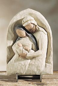 "Willow Tree The Holy Family Plaque - 6"" tall"