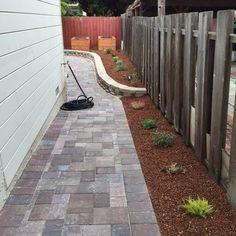 backyard designs – Gardening Ideas, Tips & Techniques Side Yard Landscaping, Backyard Patio, Outdoor Glider, Patio Flooring, Side Yards, Yard Design, Outdoor Projects, Outdoor Gardens, Outdoor Living