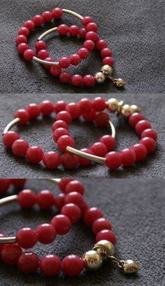 Bracelets - beads and heart