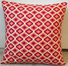 Bold Moroccan exquisite lattice cushion