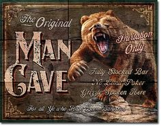Vintage Style Tin Sign, The Original man cave Invitation Only, man cave, USA, garage decor, wall hanging