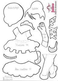 Resultado de imagen para fofuchas bailarinas moldes