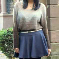 Ombré sweater by LayersofChic Ombre Sweater, Personal Taste, Sweater Weather, Skater Skirt, January, Skirts, Sweaters, Style, Fashion