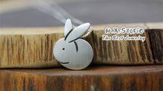 Handmade Silver Rabbit Pendant, Silver 990 Lovely Rabbit Pendant, Anniversary, Birthday, Christmas, Gift, Wholesale Available