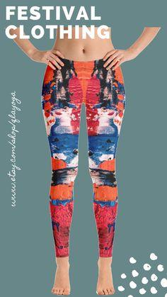 Unique Art Leggings, Shaping Leggings, Workout Leggings, Handmade Leggings, Yoga Pants, Street Wear, Fashionista, Sexy Leggings Running Leggings, Workout Leggings, Women's Leggings, Festival Wear, Festival Outfits, Intense Workout, Dance Outfits, Printed Leggings, Unique Art