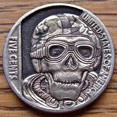 PAUL HOLBRECHT HOBO NICKEL: CAFE RACER - 1936 BUFFALO REVERSE