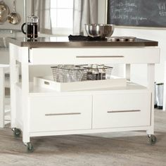 Kitchen : Ikea Rolling Cart With Movable Kitchen Island Also Modern Coffee  Maker And Stainless Steel Table Top Besides Wire Baskets Serving Tray  Modern ...